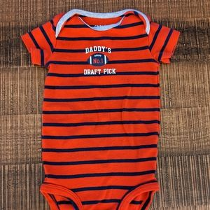 Carter's 12 Month Onsie - Daddy's No.1 Draft Pick